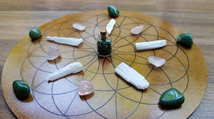 Heart Chakra Crystal Grid Set - Little Gems Metaphysical Store