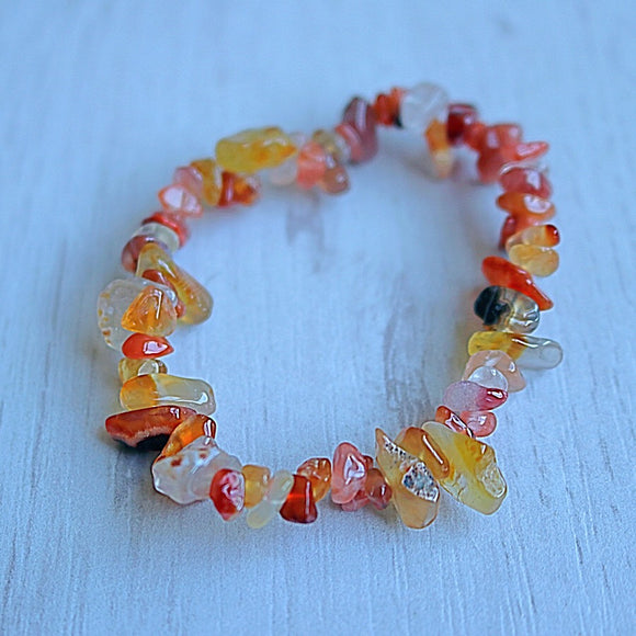 Carnelian Activation Chip Bracelet - Little Gems Metaphysical Store