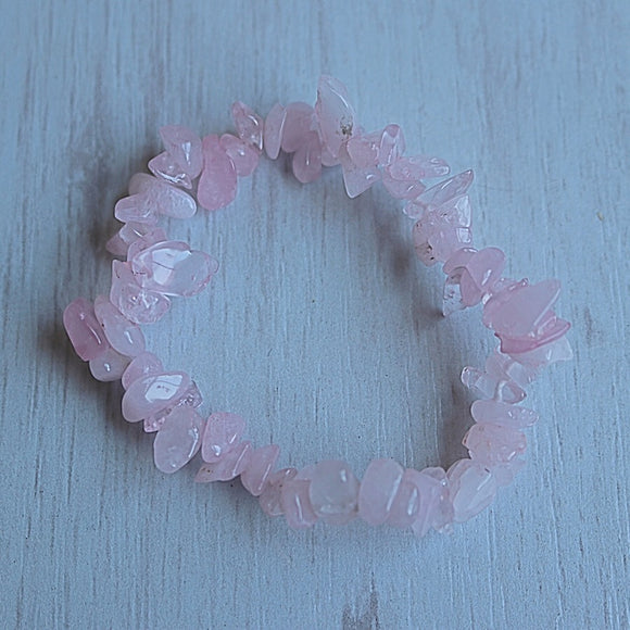 Rose Quartz Activation Chip Bracelet - Little Gems Metaphysical Store