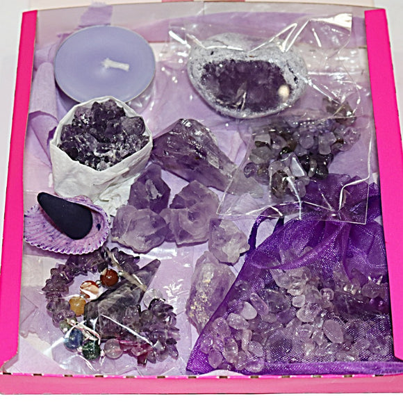Amethyst Box of Calm - little-gems-metaphysical-store