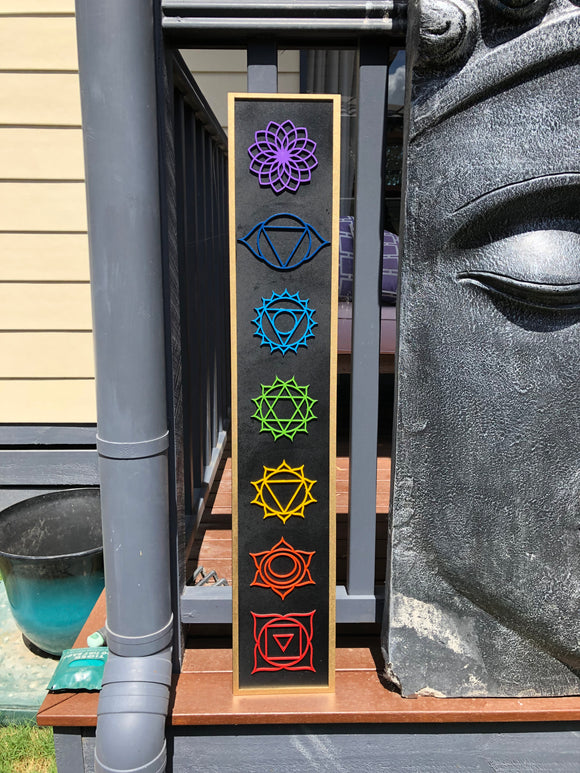 The Chakra System - Sacred Space Wall Hanging - little-gems-metaphysical-store