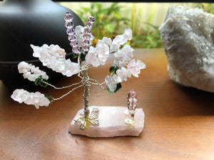 Gemtrees - Blue Lace Agate, Rose Quartz, Blue Agate - Little Gems Metaphysical Store