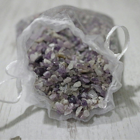 Amethyst Chip Bags - little-gems-metaphysical-store