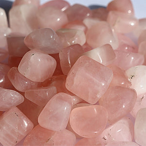 AAA Grade Rose Quartz Crystal Tumbled Stones - Little Gems Metaphysical Store