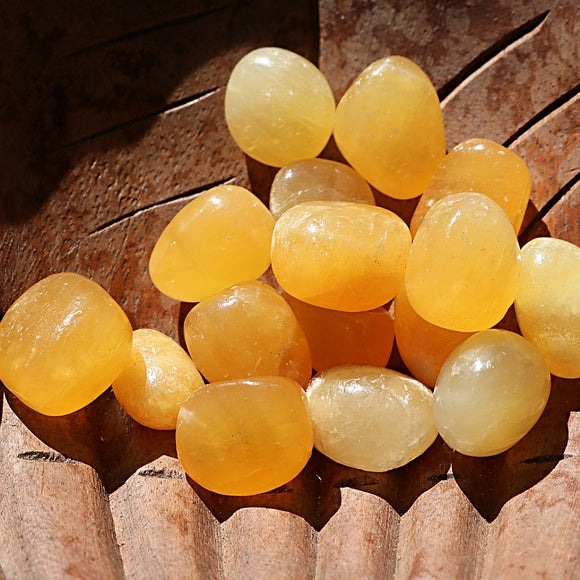 Orange Calcite Tumbled Stones - little-gems-metaphysical-store