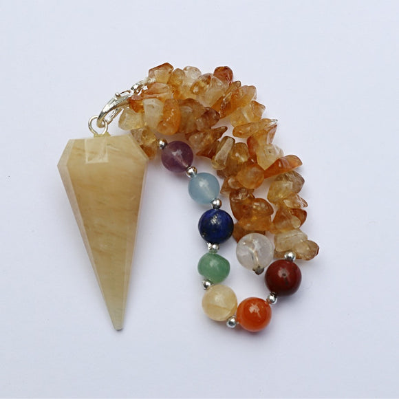 Yellow Jade Chakra Pendulum - Little Gems Metaphysical Store