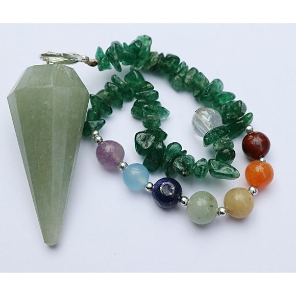 Green Aventurine Chakra Pendulum - Little Gems Metaphysical Store