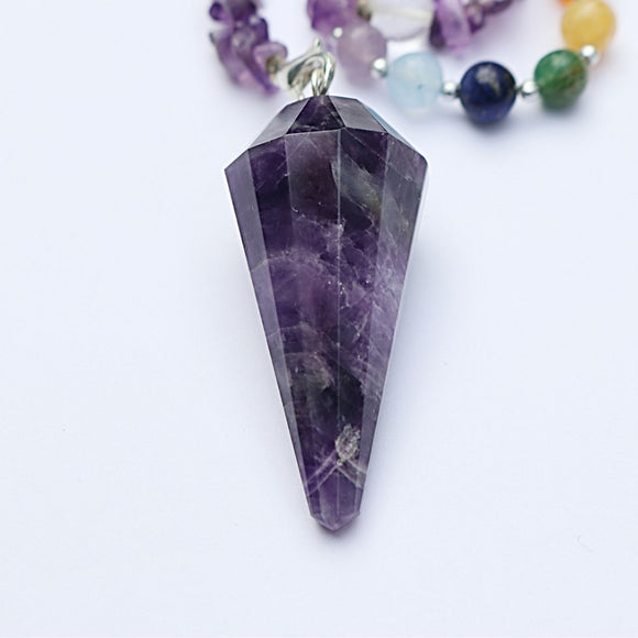 Amethyst Chakra Pendulum - little-gems-metaphysical-store