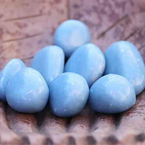 Angelite Tumbled Stones - little-gems-metaphysical-store