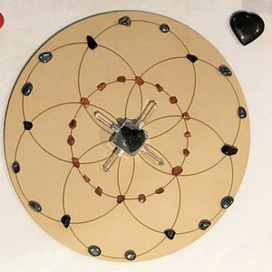 Sacral Chakra - Grounding and Creative Seed of Life Crystal Grid + Gift - Little Gems Metaphysical Store