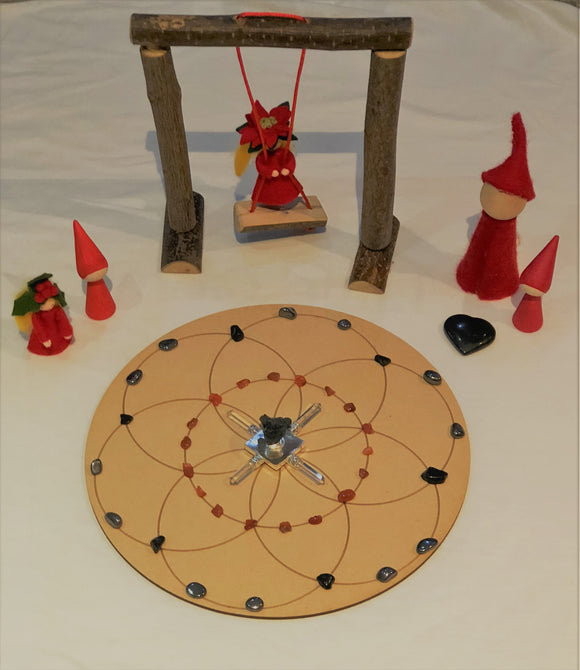 #Grounding&Creative Seed of Life Crystal Grid - Little Gems Metaphysical Store