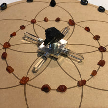 Load image into Gallery viewer, Sacral Chakra - Grounding and Creative Seed of Life Crystal Grid + Gift - Little Gems Metaphysical Store