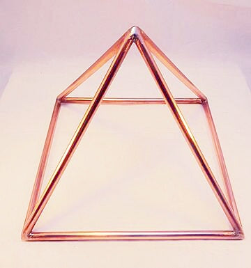 Copper Healing Pyramid - 10 inch - Little Gems Metaphysical Store