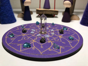 #JiveWithYourVibe Sacred Geometry Mini Crystal Grid - Little Gems Metaphysical Store
