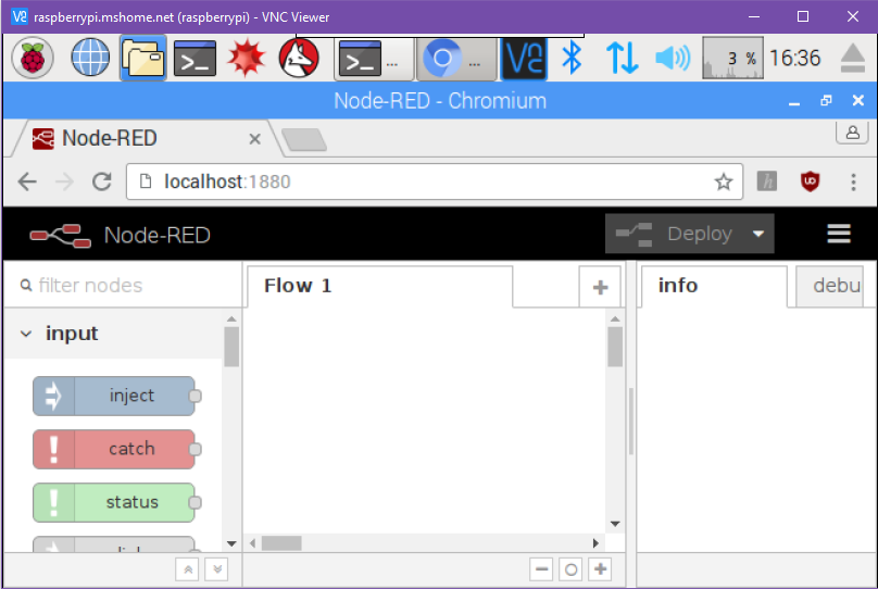 starting node-red