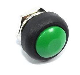12mm Domed Push Button - Green
