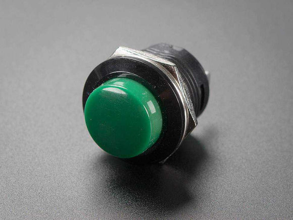 16Mm Panel Mount Momentary Pushbutton - Green Prototyping