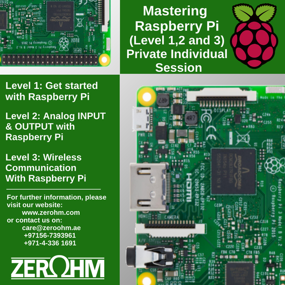 Mastering Raspberry Pi - Private Individual Session Mcus & Sbcs Zero Ohm Training Center