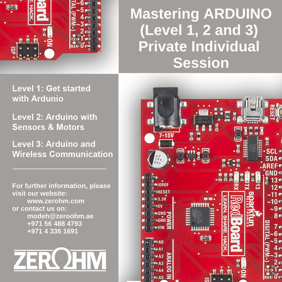 Mastering Arduino - Private Individual Session Zero Ohm Training Center