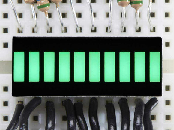 10 Segment Light Bar Graph Led Display - Pure Green Components Promotion