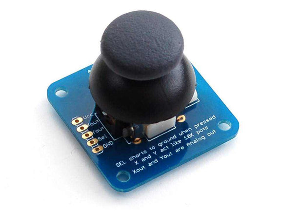 Analog 2-Axis Thumb Joystick With Select Button + Breakout Board Prototyping For Your Hobbies
