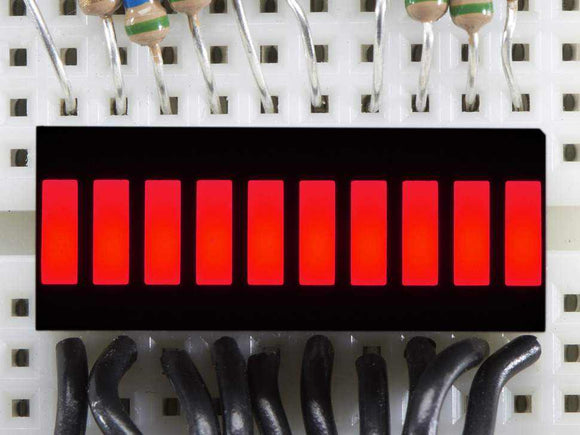 10 Segment Light Bar Graph Led Display - Red Components Promotion