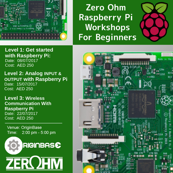 Zero Ohm Raspberry Pi Workshops Bundle (Level 1 2 And 3) Training Center