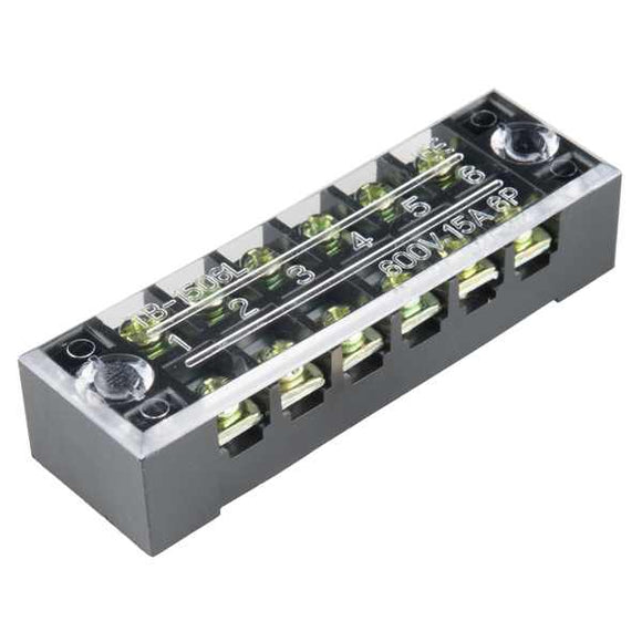 Terminal Block - 6 Position (15A 600V) Prototyping Promotion