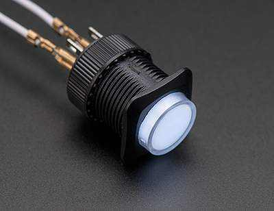 13Mm Illuminated Pushbutton - White Momentary Prototyping