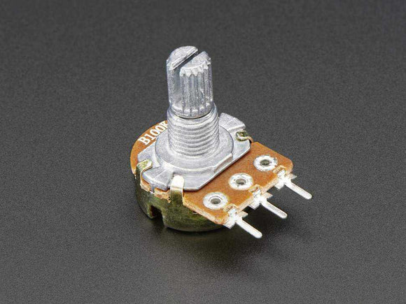Panel Mount 100K Potentiometer (Breadboard Friendly) - 100Kb Components