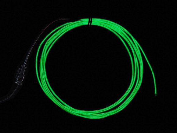 El Wire Starter Pack - Green 2.5 Meter (8.2 Ft) Components