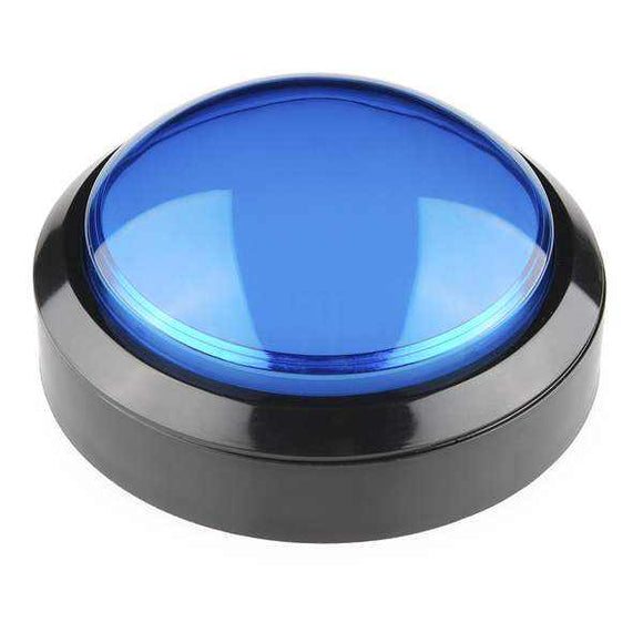 Big Dome Pushbutton - Blue Prototyping For Your Hobbies