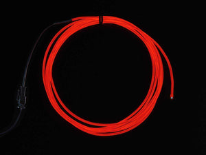 El Wire Starter Pack - Red 2.5 Meter (8.2 Ft) Components