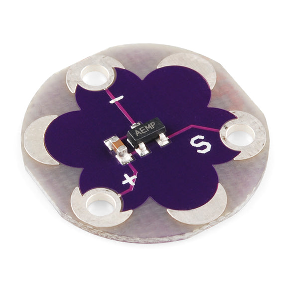 Lilypad Temperature Sensor Arduino Sensors Wearables