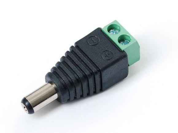Male Dc Power Adapter - 2.1Mm Plug To Screw Terminal Block Prototyping