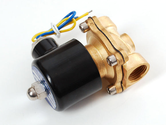 Brass Liquid Solenoid Valve - 12V - 1/2 Nps Actuators