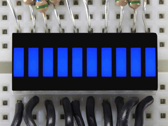 10 Segment Light Bar Graph Led Display - Blue Components Promotion