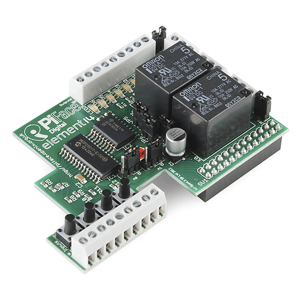 Piface Digital I/o Expander For Raspberry Pi Model B/b+ Mcus & Sbcs