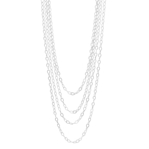 "100"" Open Link Cable Necklace"