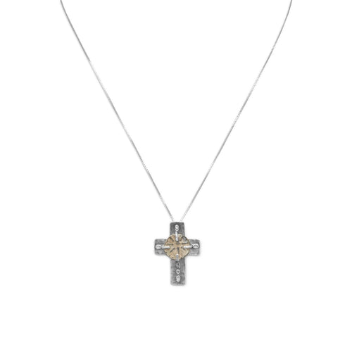 "16.5"" Cross and Ancient Coin Necklace"
