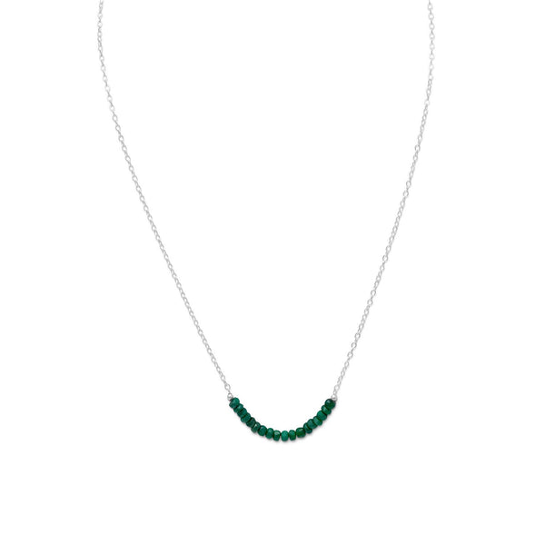 Faceted Beryl Bead Necklace - May Birthstone