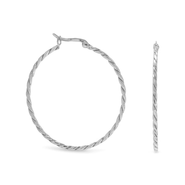 Thin Twist Hoop Earrings