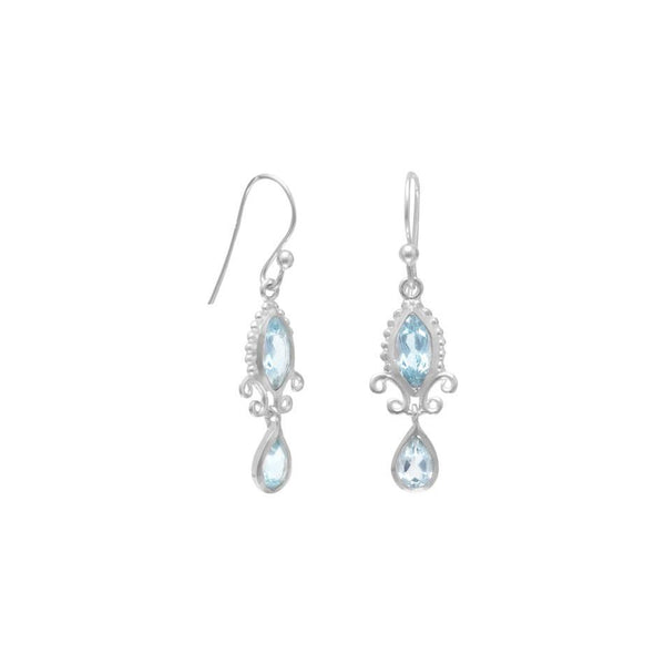 Multishape Blue Topaz Earrings