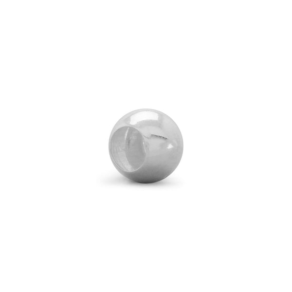 6mm Sterling Silver Bead with 3.5mm Hole