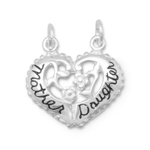Heart Shaped Mother/Daughter Break-Away Charm