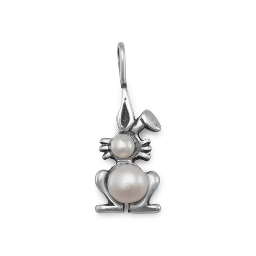Cultured Freshwater Pearl Bunny Pendant