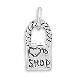 Love To Shop Reversible Bag Charm