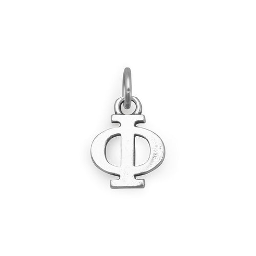 Greek Alphabet Letter Charm - Phi