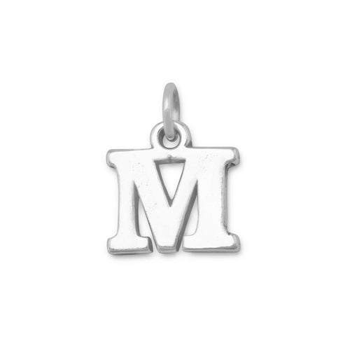 Greek Alphabet Letter Charm - Mu