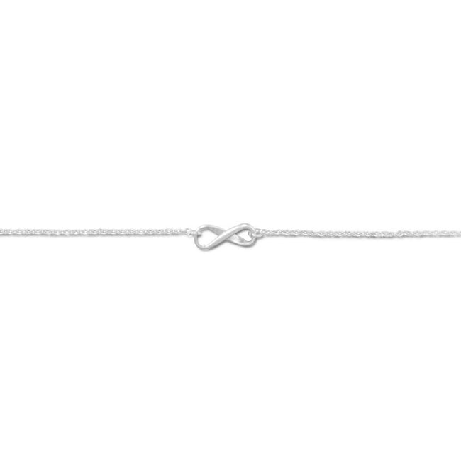"11"" + 1"" Infinity Symbol Anklet"